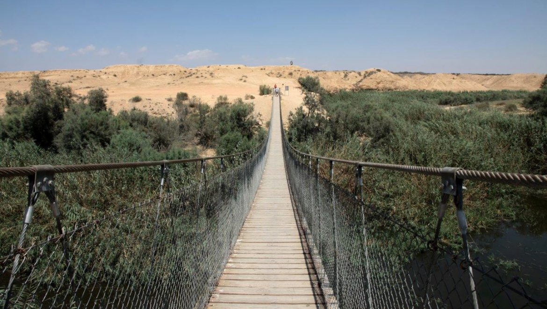 גשר החבלים בדרך הבשור צילום-יעקב שקולניק וקקל