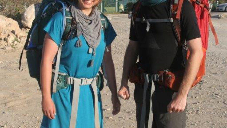 זוג תרמילאים מגרמניה צילום-חוה לוי