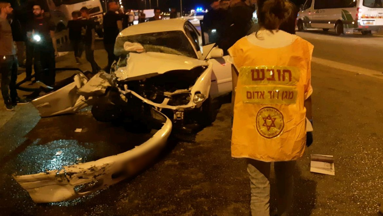 תאונת דרכים על כביש 31 צילום- דוברות מדא