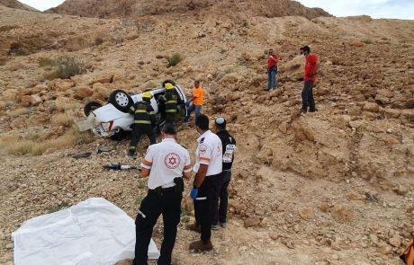 הרוג בתאונה עצמית בכביש 3199 ערד-מצדה