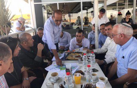 ראשי מועצות מהאזור נפגשו עם שרים בממשלה לקדם את פרויקט אזור תעשיה שוקת