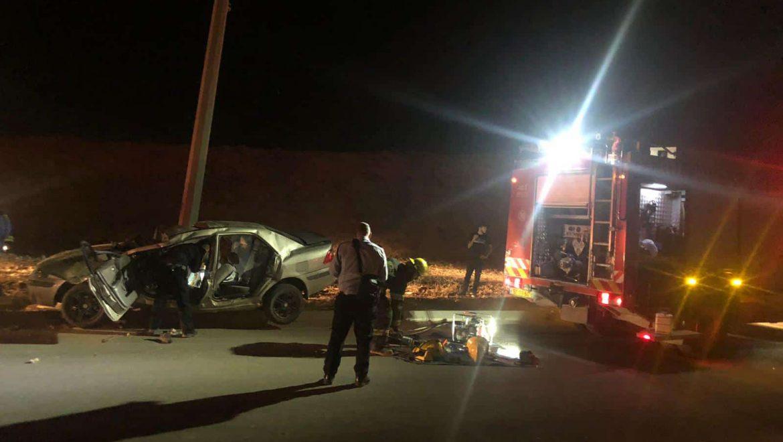תאונה במנחת ערד צילום-דוברות כבאות והצלה לישראל נגב (2)