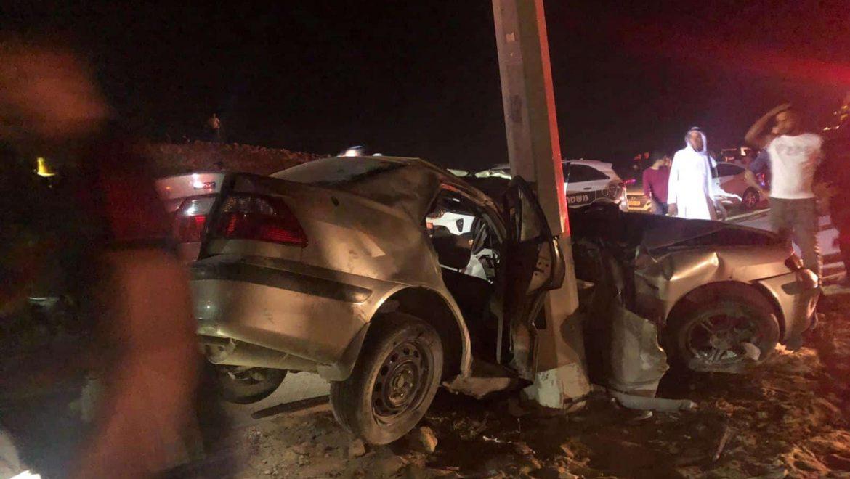 תאונה במנחת ערד צילום-דוברות כבאות והצלה לישראל נגב (1)