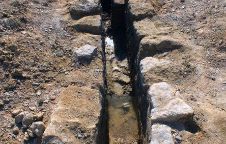 תגלית השנה: אמת מים מהתקופה הרומית נחשפה בחפירות ארכיאולוגיות בערבה