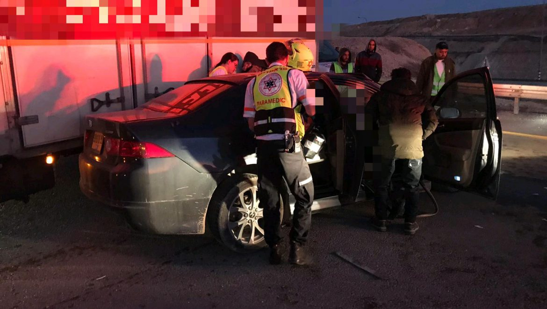 תאונת דרכים קשה בכביש 31 צילום-נאסר אבו חאמאד תיעוד מבצעי מדא