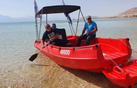 לראשונה: סירת חירום והצלה ייחודית תפעל בים המלח