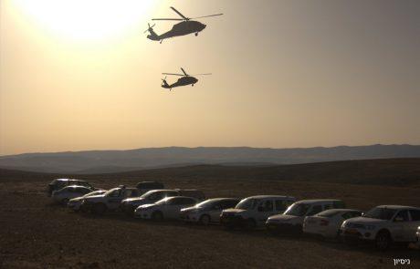 תרגיל איתור ופינוי המוני מהשטח של יחידות החילוץ עם יחידות מסוקים של חיל-האוויר