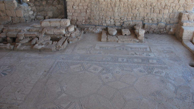 פסיפס מפואר בבית הכנסת העתיק בסוסיא צילום-ענת רסקין