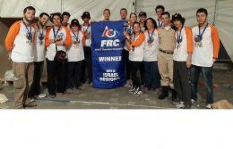 נבחרת ערד תייצג את ישראל באליפות העולם ברובוטיקה