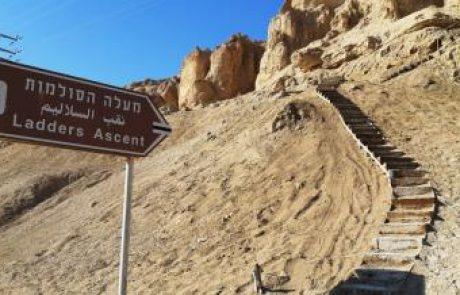 מעלה הסולמות/שביל המדרגות בהר סדום, ים המלח