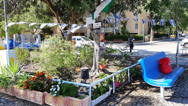 חלק מפינת הזיכרון במקום הרצח של סמל קוקיא בערד צילום-ענת רסקין