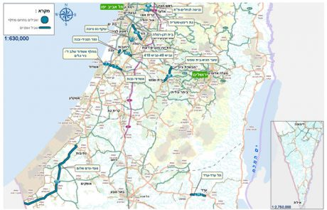 לראשונה- תוכנית אב לשבילי אופניים בישראל לצד צירי כבישים מרכזיים