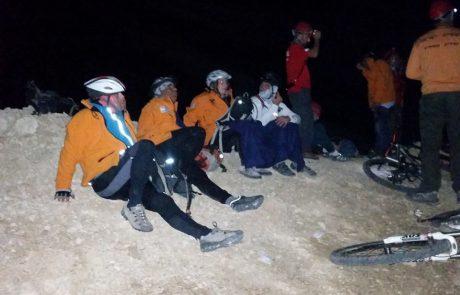 13 רוכבי אופניים מחולצים במסוק מנחל אשלים