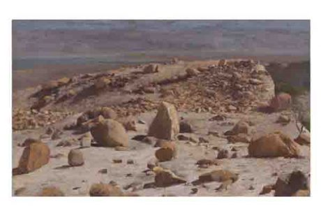 מצדה-נוף ואדמה- עכשיו בציורי שמן של האמן אורי בלייר