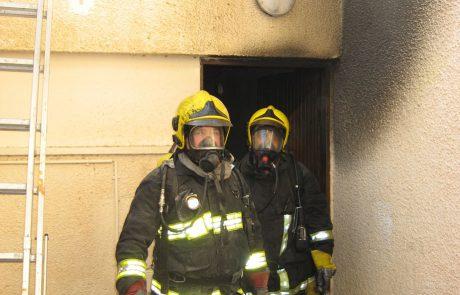 שריפה בבית מלון בערד