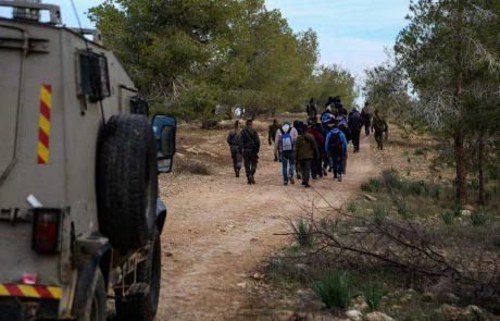 56 שוהים בלתי חוקיים נעצרו בסמוך למעבר מיתר