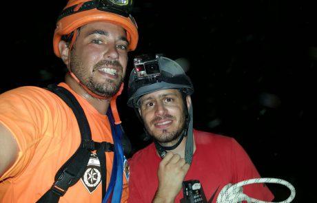 חילוץ גולש סנפלינג במערת הקולונל בהר סדום