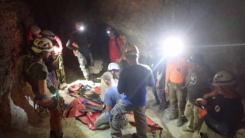 חילוץ ממערה בהר סדום צילום-יחידת החילוץ ממערות