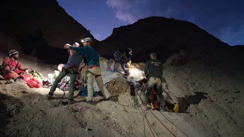 יחידת החילוץ ממערות בחילוץ בהר סדום צילום-יחידת החילוץ ממערות