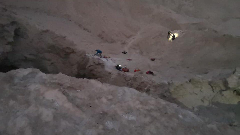 חילוץ מהר סדום צילום-יחידת החילוץ ממערות