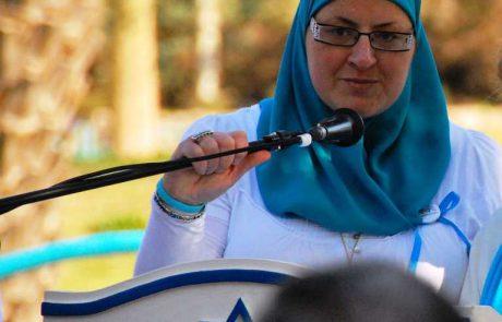 הפעילה החברתית גדיר האני קבלה את פרס סמי מיכאל