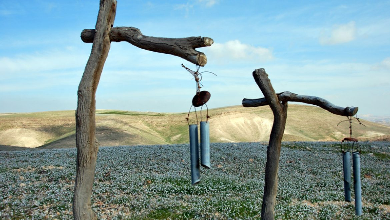 פעמוני רוח במתחם זמן מדבר צילום-ענת רסקין