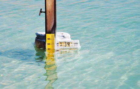 משמר המפלס ים המלח- סיכום אפריל 2017