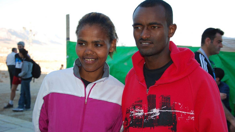 המנצחים בחצי מרתון מרוץ לפסגת מצדה צילום-ענת רסקין