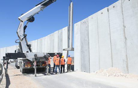 נסגרה חומת הבטחון בין תרקומיא למיתר במרחב דרום הר חברון