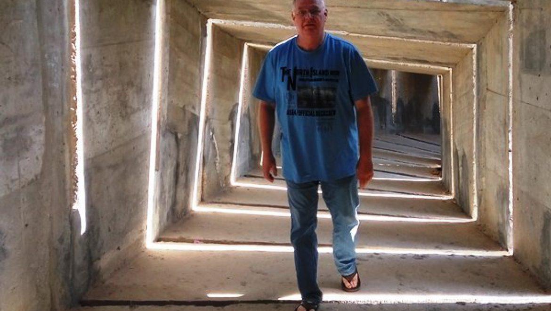 משחקי אור וצל באנדרטת הנגב צילום-ענת רסקין